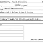 Bollettino postale contributo annuale