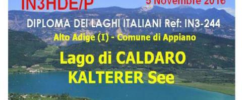 Attivazione lago di Caldaro DLI  IN3- 244